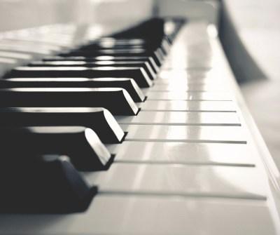 shining piano keys