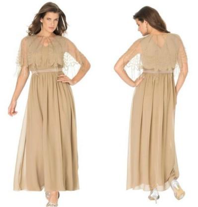 Roamans Women's Plus Size Capelet Jacket Dress
