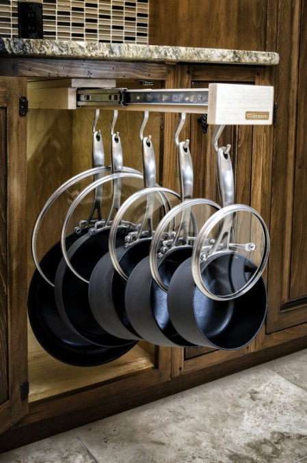 Pull-Out Pot and Pan Rack