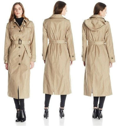 London Fog Women's Long Single-Breasted Trench Coat