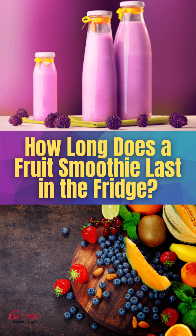 HOW LONG CAN YOU KEEP A FRUIT SMOOTHIE IN THE FRIDGE