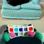 cat couch crocheting