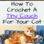 tiny crocheted kitty sofa