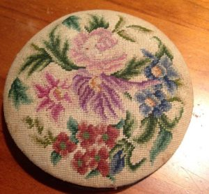 embroidered lid