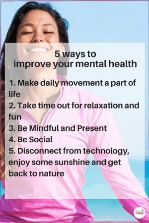 5 ways to improve your mental health today