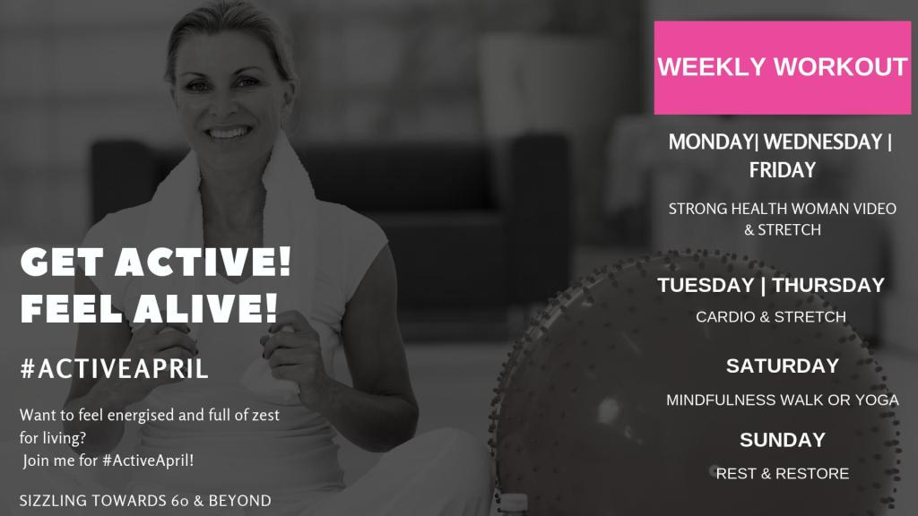 #ACTIVEAPRIL WEEKLY WORKOUT