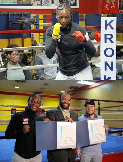 Claressa Shields and Salita Promotions Honored While on Display at Open Workout
