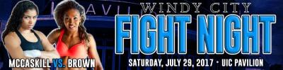 Saturday's Windy City Fight Night Championship Main Event: Jessica McCaskill vs. Natalie Brown