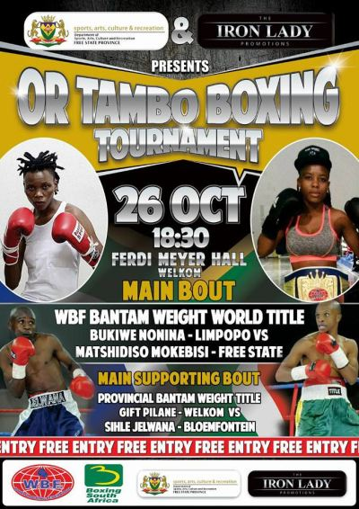 WBF Champion Bukiwe Nonina to Face Familiar Foe in Matshidiso Mokebisi in Title Defense on October 26