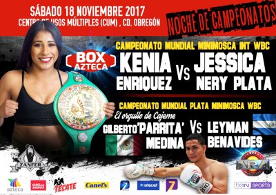WBC Interim Champion Kenia Enriquez Putting her Belt on the Line Saturday Against Jessica Nery Plata