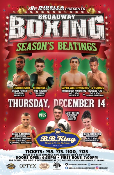 """On Weeks Rest, Alicia Napoleon to Take on Sydney LeBlanc on Thursday as Part of BROADWAY BOXING """"Season's Beatings"""""""