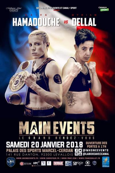 Maiva Hamadouche to Make her 3rd Defense of IBF Super Featherweight Championship on Saturday Against Myriam Dellal