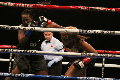 Franchon Crews-Dezum Debuts Under Salita Promotions with Heavy Hitting Unanimous Decision Win over Tiffany Woodard