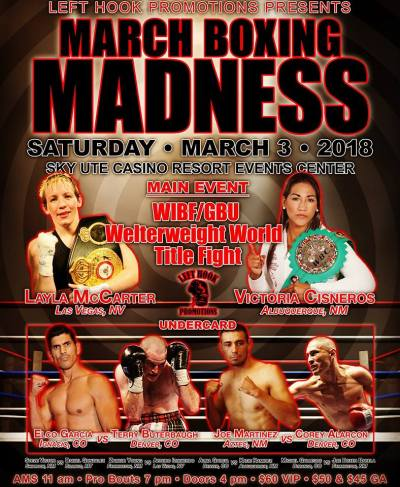 Awaiting Brækhus Mandated Matchup, Layla McCarter to Face Victoria Cisneros for the GBU and WIBF Championships on March 3rd