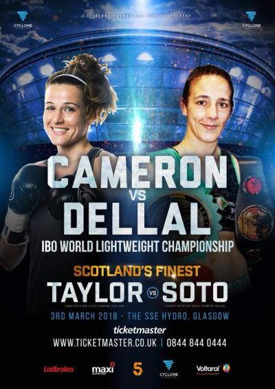 Chantelle Cameron to Make her First IBO Championship Defense on March 3rd Against Myriam Dellal
