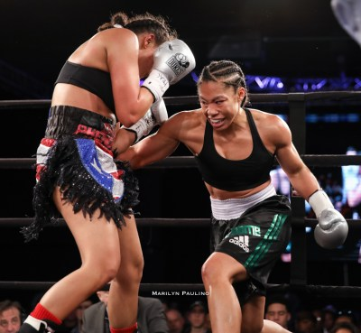 Alycia Baumgardner displays total package in Philadelphia en route to first pro title – the WBC International belt