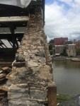 Walls coming down at former Seneca Knitting Mill