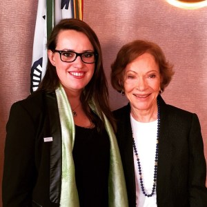 Merrill Amos with Rosalynn Carter 6-10-15