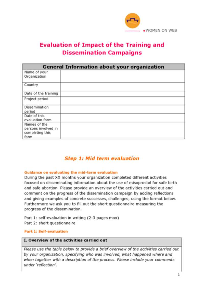 Mid Term Evaluation Form. Share. Preview