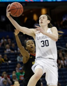 Connecticut forward Breanna Stewart during the NCAA Women's Final Four tournament. (AP Photo/John Raoux)
