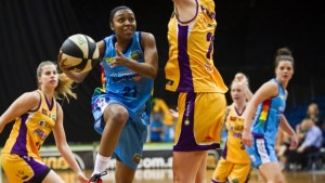 Renee Montomery during her Capitals debut against Melbourne Boomers. Photo: Rohan Thomson