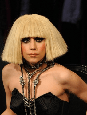 Lady Gaga Photos With Medium Bob Hairstyle With Long BangsPNG