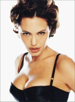 Angelina Jolie Voight With Short Hair In Big Roll Curls
