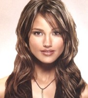long wavy hair style with side