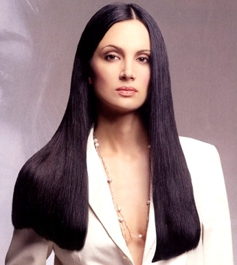 Long Straight Hair Style Shiny Hair Black With