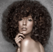 women big curly hair