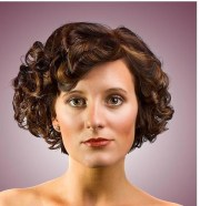 bob curl women hairstyle with big
