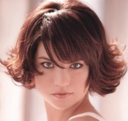 short layered hair style with bangs