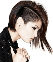 punkish women hairstyle with