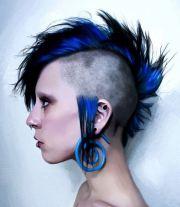 unique mohawk punk women hairstyle