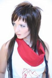 emo hairstyle in medium long length