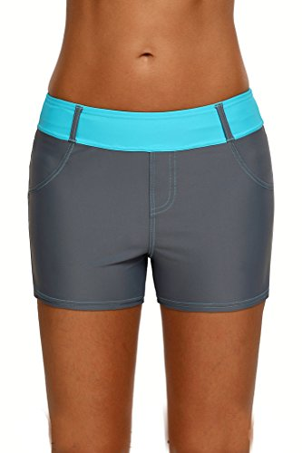 54e36f3d3e Aleumdr Womens Color Block Waistband Swim Board Shorts Plus Size S – XXXL