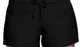 6f95d28282 ZKESS Women's Waistband Swimsuit Bottom Boy Shorts Swimming Panty S-XXXL