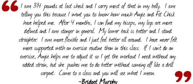 Bridget Testimony