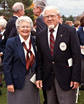 Louise and Karsten at the 1994 Solheim Cup The Greenbrier, West Sulphur Springs, West Virginia