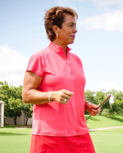 Deb Vangellow teaching how to play golf