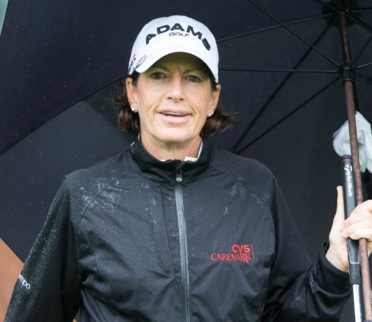 juli inkster in the broadcast booth Q and A