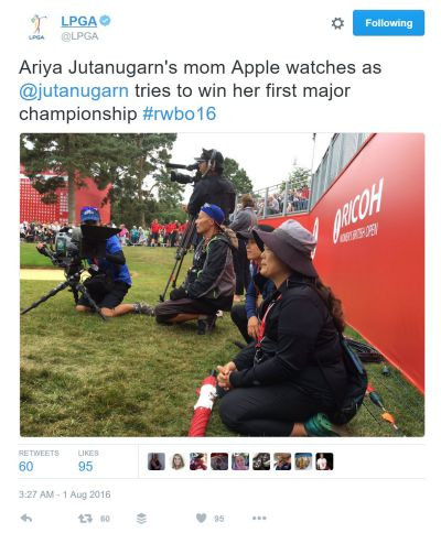 Ariya Jutanugarn wins the British Open LPGA Tweet