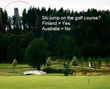 Ski Jump on the Golf Course Finland