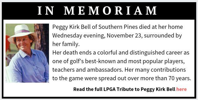 In Memoriam Peggy Kirk Bell