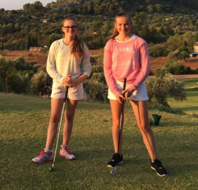 Eve and Hope Neild - womens golf newsletter