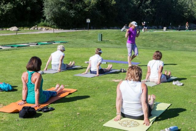 Kathleen Heiney LPGA Teaching and Club Professionals Yoga in Golf