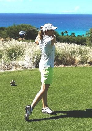 Kathleen Heiney Womens Golf Yoga and golf article
