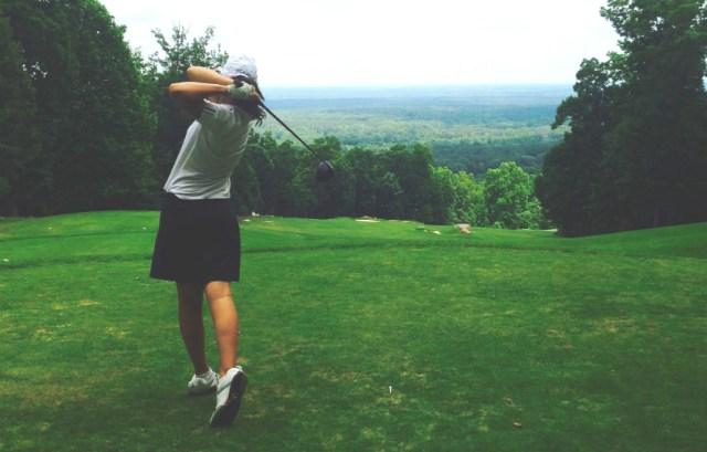 Sarah Bejgrowicz teeing off womens golf magazine Allie White