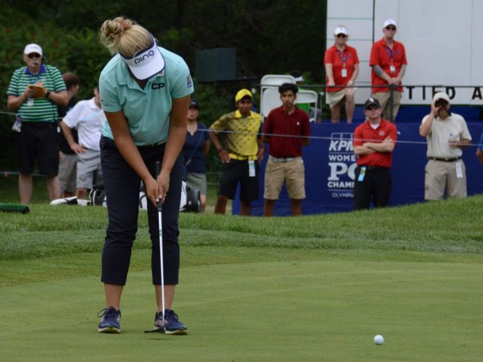 2016 Champion Brooke Henderson at the 2017 KPMG Women's PGA | Photo: Ben Harpring