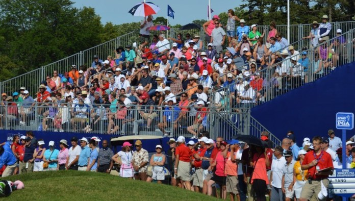 Some of the big galleries at this year's KPMG Women's PGA Championship